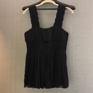 DVF Black Silk Top sz 6